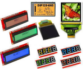 TFT, LCD, LED, OLED Displays